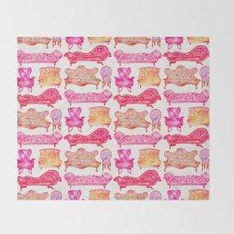 Victorian Lounge – Pink Palette Throw Blanket