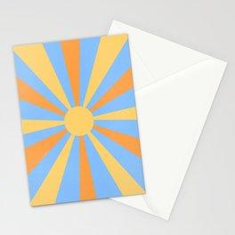 yellow and orange sunshine Stationery Cards