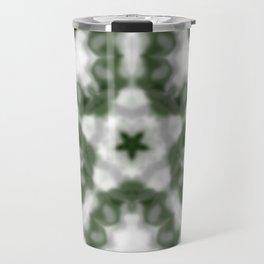 Green and White Kaleidoscope Travel Mug
