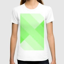 green and white gradient 3 T-shirt