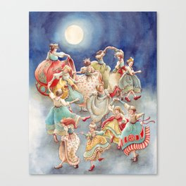 The 12 Dancing Princesses Canvas Print