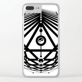 Radiant Abundance (white-black) Clear iPhone Case