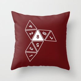 Red Unrolled D8 Throw Pillow