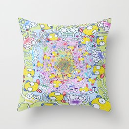 25 Cents Piece of Happiness Throw Pillow