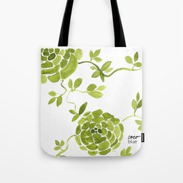 green zinnias by cocoblue Tote Bag