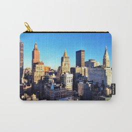 Manhattan Skyline Approaches Dusk - West Village, NYC Carry-All Pouch
