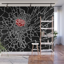 The Shattered Rose Wall Mural
