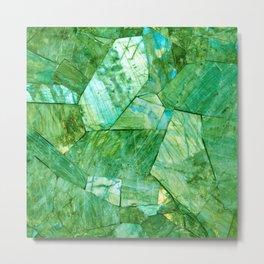 Labradorite Green Metal Print