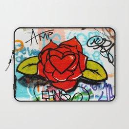 rose/heart graffitti Laptop Sleeve