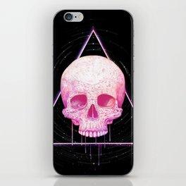 Skull in triangle on black iPhone Skin