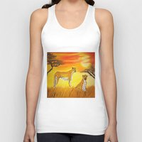 tigers Tank Tops featuring Tigers Sun by ArtSchool