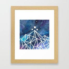 Watercolor galaxy Night Court - ACOTAR inspired Framed Art Print
