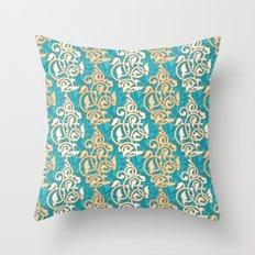 Arabesque seamless pattern Throw Pillow