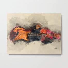 Popa Chubby's electric guitar Metal Print