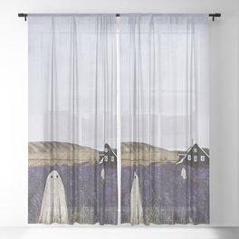 Lavender Fields Sheer Curtain
