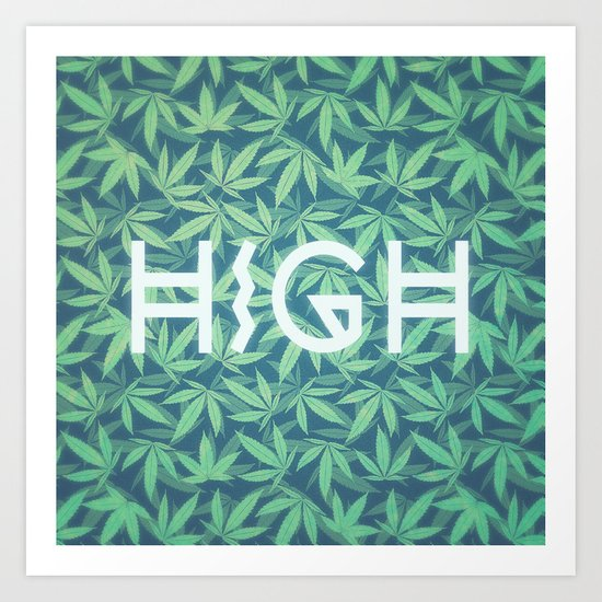 HIGH TYPO! Cannabis / Hemp / 420 / Marijuana  - Pattern by badbugsart