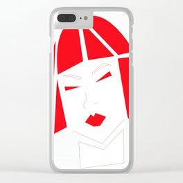 Tokio | Parodia geométrica Clear iPhone Case