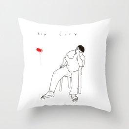 R I P   C I T Y Throw Pillow