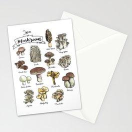 Types of Mushroom Stationery Cards