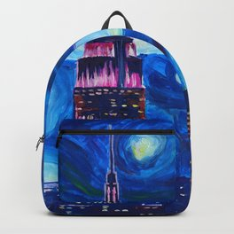 Starry Night in New York - Van Gogh Inspirations in Manhattan Backpack