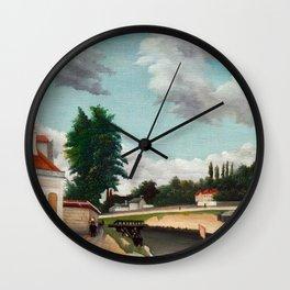 Henri Rousseau - Outskirts of Paris Wall Clock