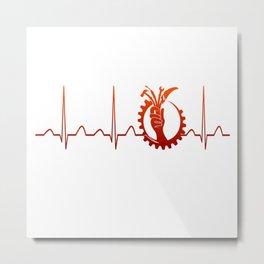 MECHANIC HEARTBEAT Metal Print