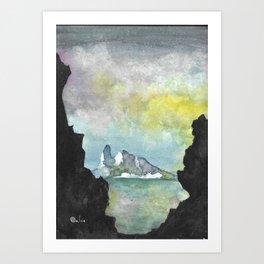 Northern Lights (Sunrise) Art Print