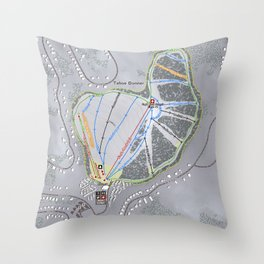Tahoe Donner Resort Trail Map Throw Pillow