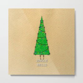 Vintage Christmas Tree  Metal Print
