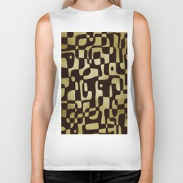 Soft shapes in mocha and gold Biker Tank