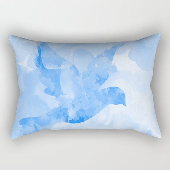 Abstract Flying Dove II Rectangular Pillow