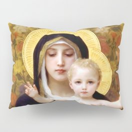 """William-Adolphe Bouguereau """"The Madonna of the Lilies"""" Pillow Sham"""