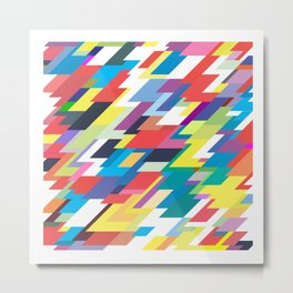Layers Triangle Geometric Pattern Metal Print