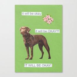 trust dog Canvas Print