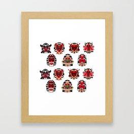 BUG FACES PATTERN 01 Framed Art Print
