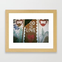 Od Is Love Framed Art Print