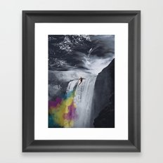 Rainbow Rocket Framed Art Print