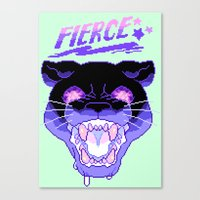 fierce Canvas Prints featuring FIERCE by Ginseng&Honey