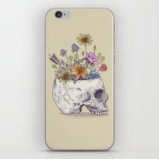 Half Skull Flowers iPhone Skin