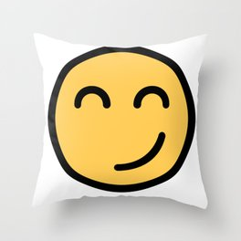 Smiley Face      Cute Funny Smiling Happy Face Throw Pillow