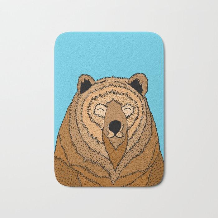 The Happy Bear Bath Mat