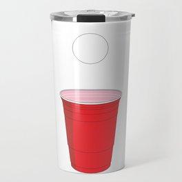 Beer Pong Illustration Travel Mug