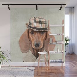 The stylish Mr Dachshund Wall Mural