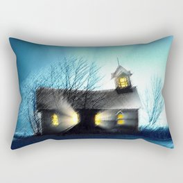 Abandoned Church within the Scituate Reservoir - Scituate, Rhode Island Landscape by Jeanpaul Ferro Rectangular Pillow