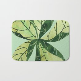 Leaf flower Bath Mat