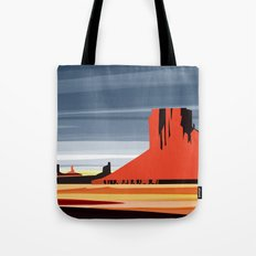 Monument Valley sunset magic realisim Tote Bag