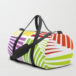 Colorful Squares twirling from the Center. Optical Illusion of PerspectiveColorful Squares twirling Duffle Bag