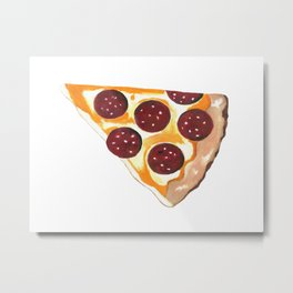 Pizza Metal Print