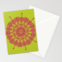 Pink Lemon Mandal Stationery Cards