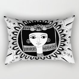 1000bc Egyptian inspired mandala Rectangular Pillow